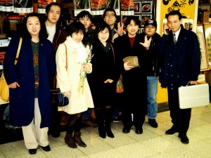 The Star Trek fan club in Tokyo, Japan; Riko Kushida in white.