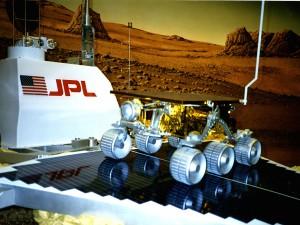 A model of the Mars Sojourner at JPL.
