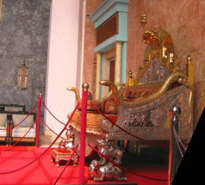 The ceremonial throne
